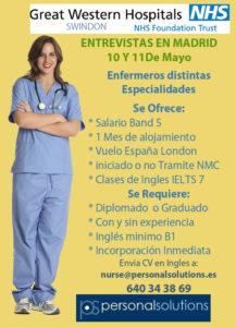 Oferta trabajo enfermeria